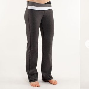 lululemon / astro pants heathered black 6 tall